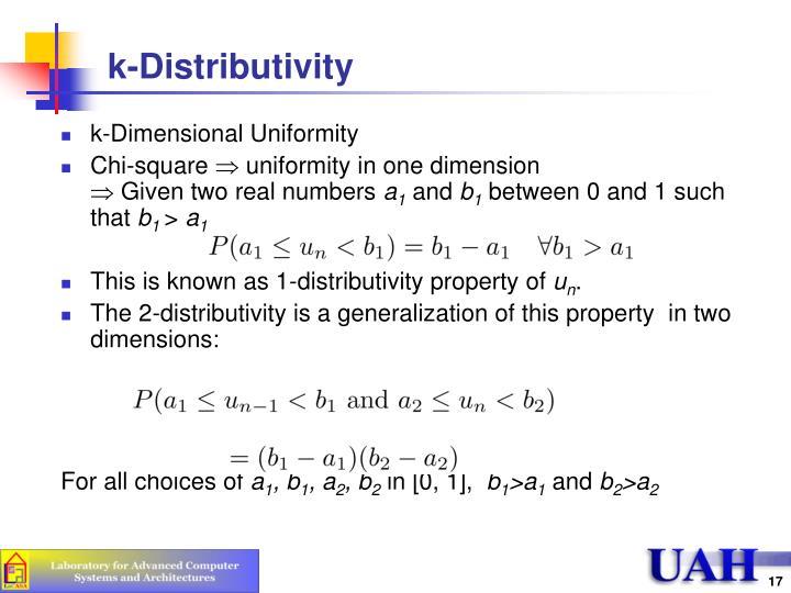 k-Distributivity