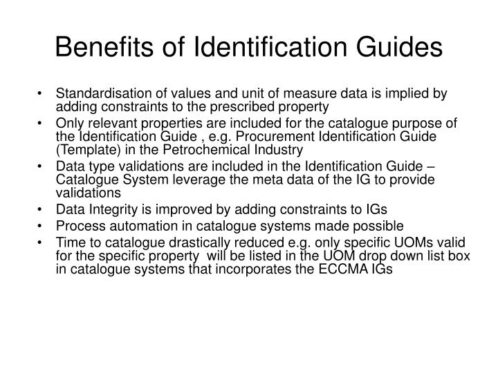 Standardisation of values and unit of measure data is implied by adding constraints to the prescribed property