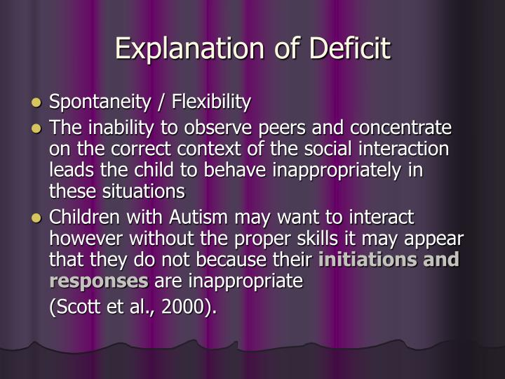 Explanation of Deficit