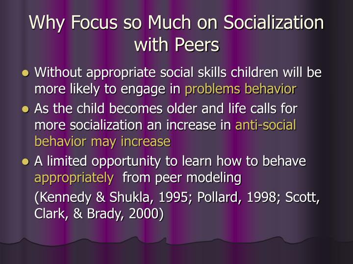 Why Focus so Much on Socialization with Peers