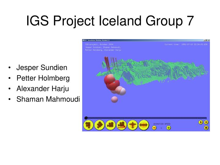 igs project iceland group 7