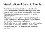 visualization of seismic events