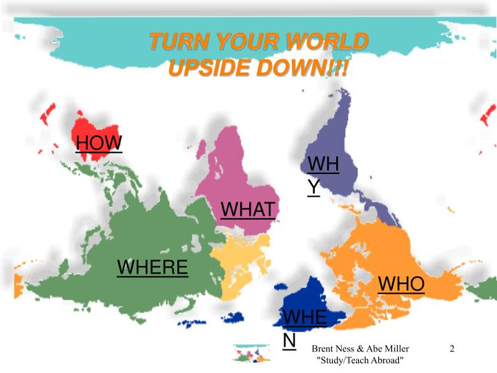 TURN YOUR WORLD UPSIDE DOWN!!!