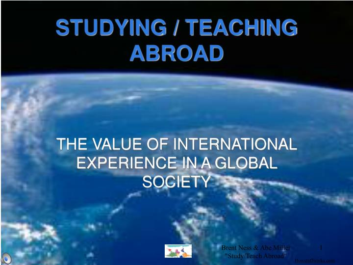 studying teaching abroad