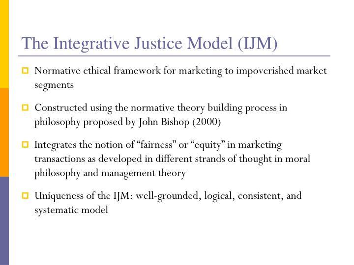 The Integrative Justice Model (IJM)