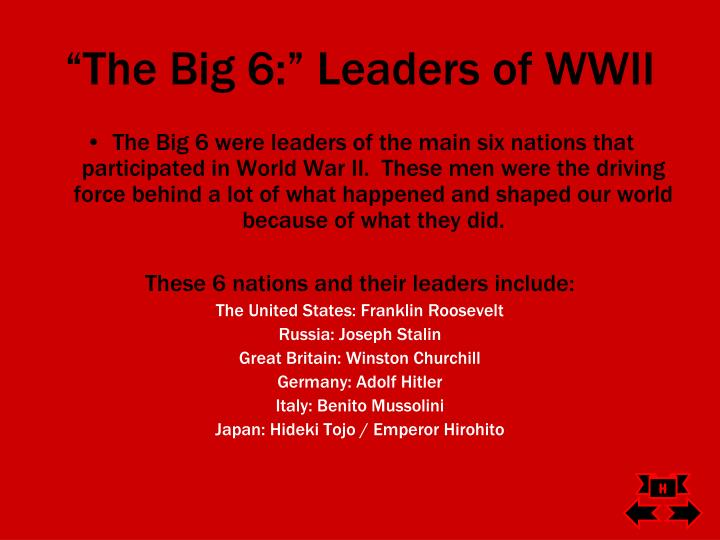 """The Big 6:"" Leaders of WWII"