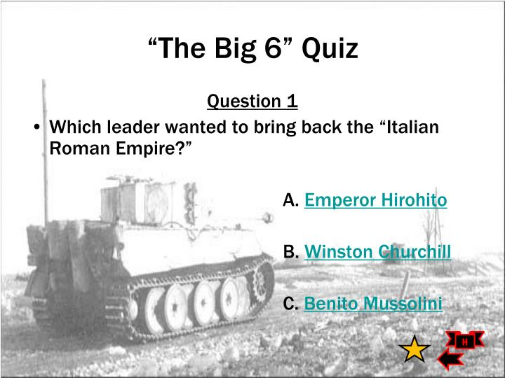 """The Big 6"" Quiz"