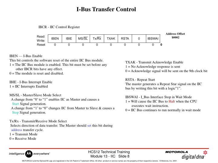 I-Bus Transfer Control
