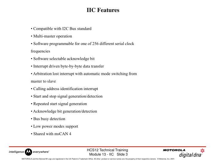 IIC Features