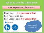 when to use the subjunctive2