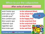 when to use the subjunctive6