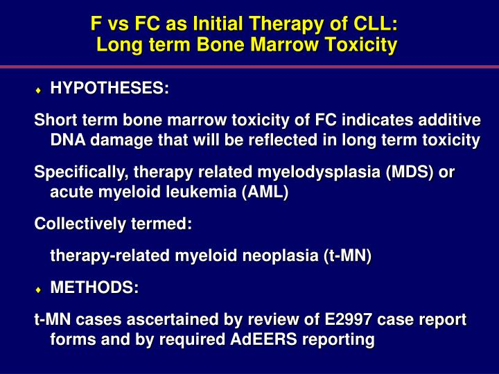 F vs FC as Initial Therapy of CLL:
