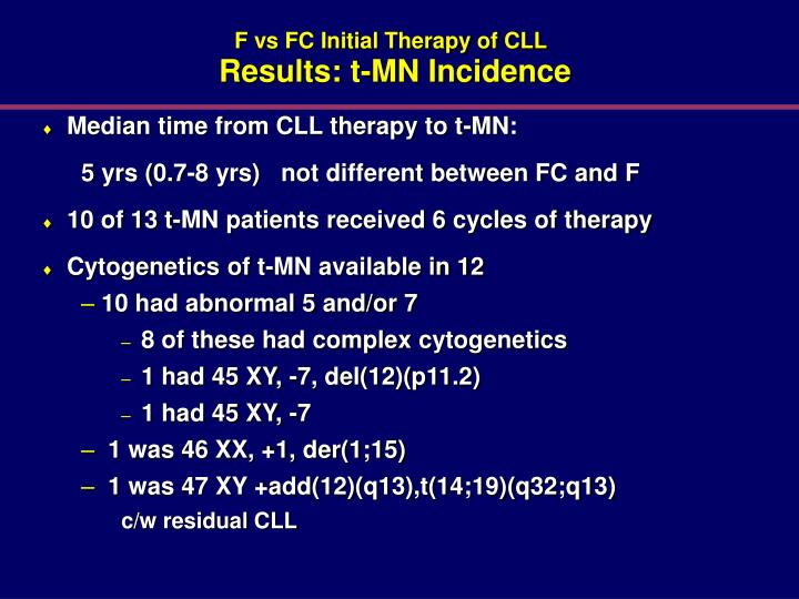 F vs FC Initial Therapy of CLL