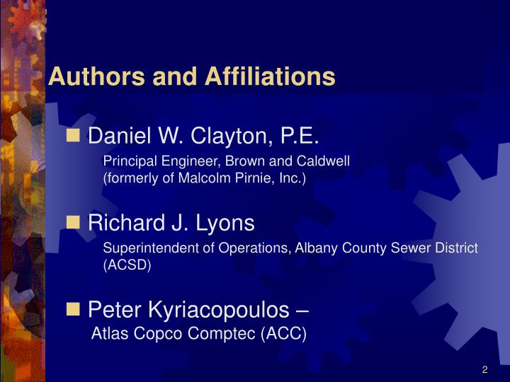 Authors and affiliations