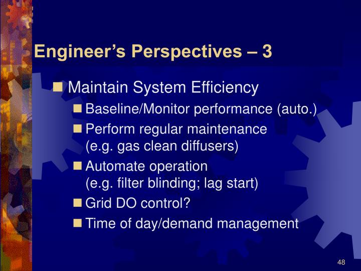 Engineer's Perspectives – 3