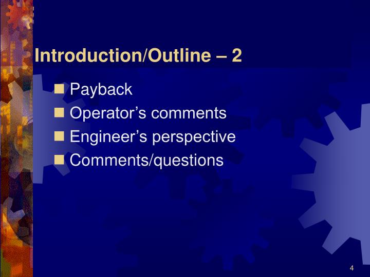Introduction/Outline – 2