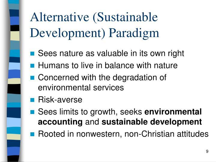 Alternative (Sustainable Development) Paradigm