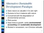 alternative sustainable development paradigm