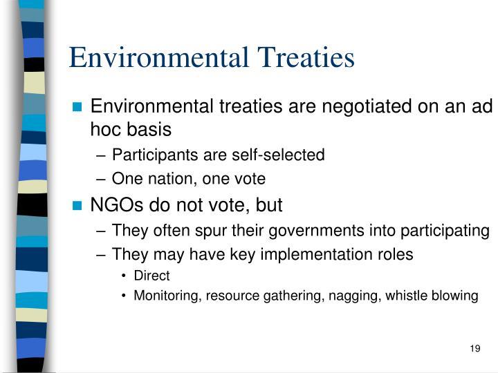 Environmental Treaties
