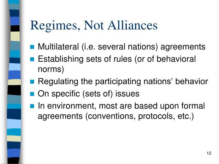 Regimes, Not Alliances