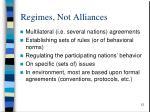 regimes not alliances