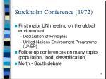 stockholm conference 1972