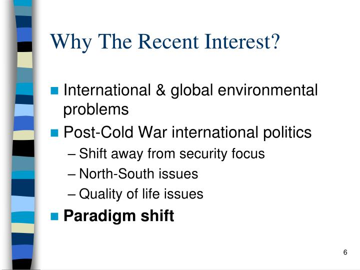 Why The Recent Interest?