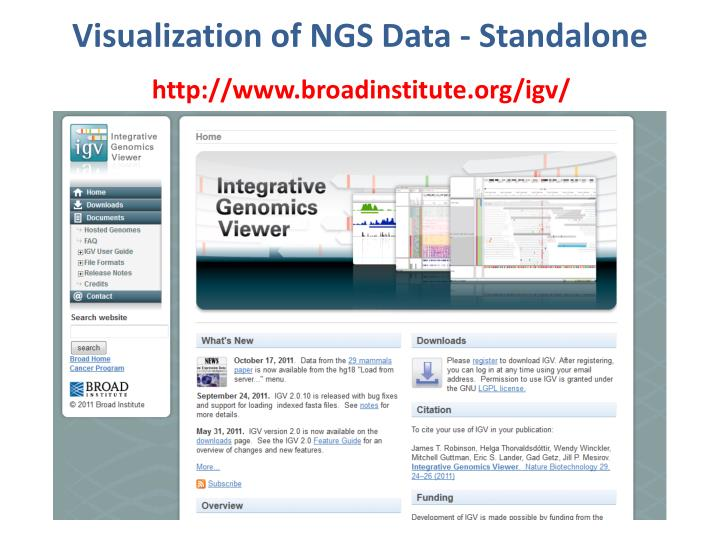 Visualization of NGS Data - Standalone