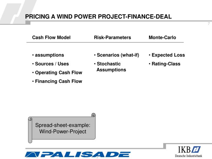 PRICING A WIND POWER PROJECT-FINANCE-DEAL