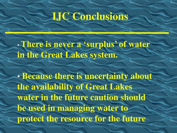 IJC Conclusions