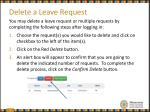 delete a leave request