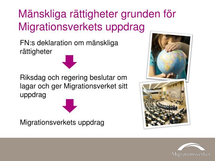Mänskliga rättigheter grunden för Migrationsverkets uppdrag