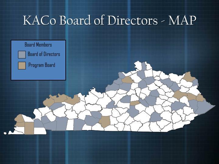KACo Board of Directors - MAP