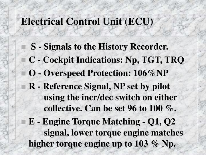 Electrical Control Unit (ECU)