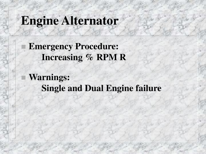 Engine Alternator