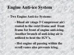 engine anti ice system