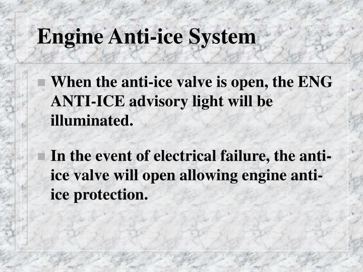 Engine Anti-ice System