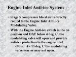 engine inlet anti ice system