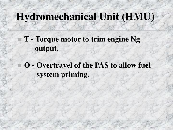 Hydromechanical Unit (HMU)