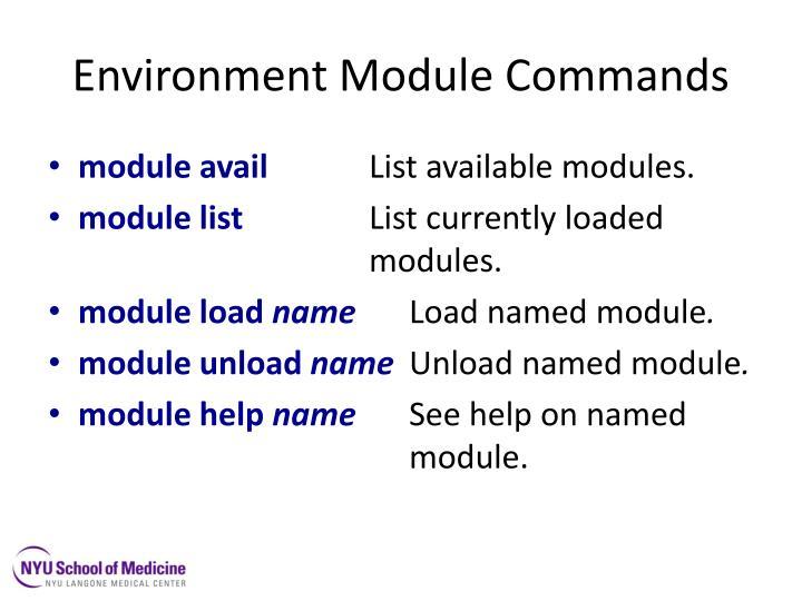 Environment Module Commands