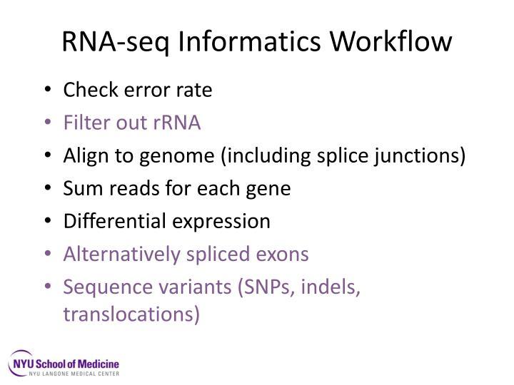 RNA-seq Informatics Workflow