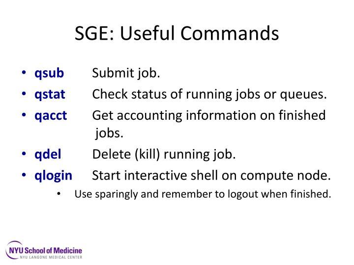 SGE: Useful Commands