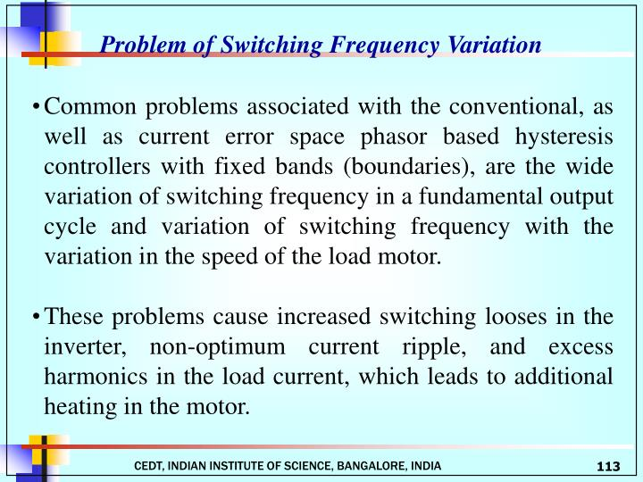 Problem of Switching Frequency Variation