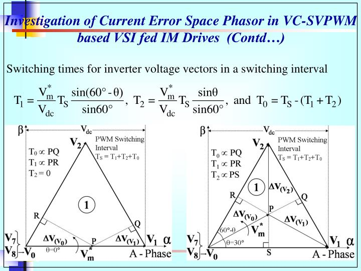 Investigation of Current Error Space Phasor in VC-SVPWM based VSI fed IM Drives  (Contd…)