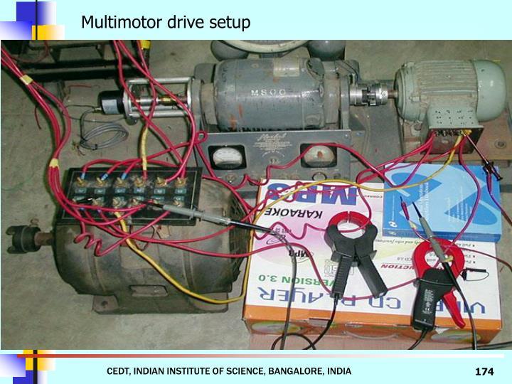 Multimotor drive setup