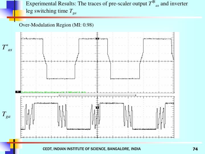 Experimental Results: The traces of pre-scaler output