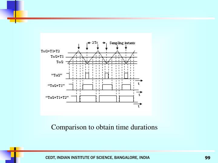 Comparison to obtain time durations
