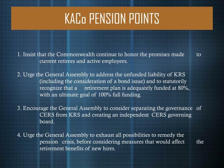 KACo PENSION POINTS