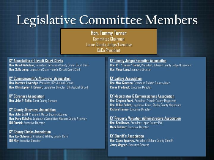 Legislative Committee Members