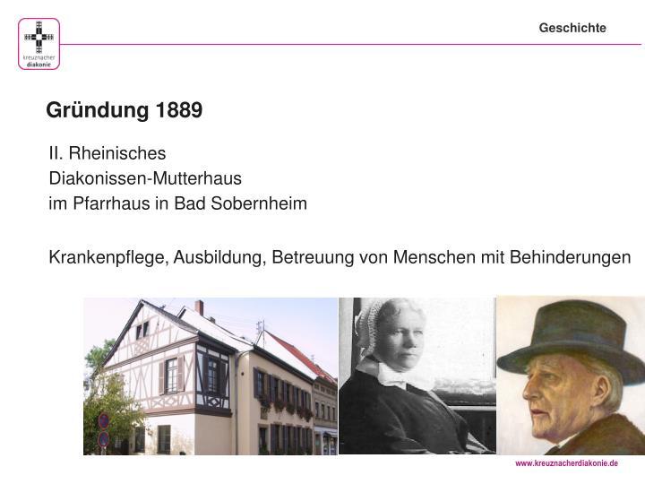 Gründung 1889